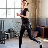 新款韩版健身运动紧身训练假...