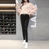正品 魔术裤(加绒冬款)黑色 显瘦小脚裤高腰弹力长裤 特价包邮